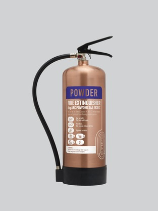 Midland Fire - First Class Range - 9 Kg ABC Dry Powder with a polished copper finish