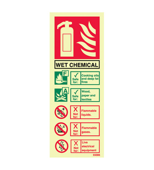Midland Fire - Fire Extinguisher Identity Sign (Wet Chemical)