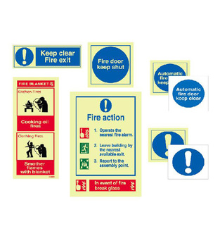 midland fire - various fire safety signs