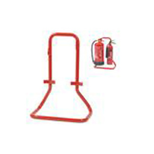 midland fire - fire extinguisher double stand red metal