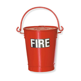midland fire - fire bucket with lid, handle and sand